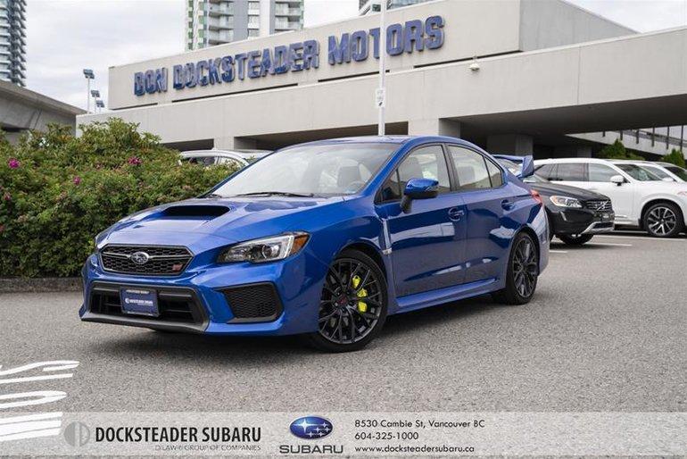 2018 Subaru WRX STI 4Dr Sport-Tech Pkg w/ Wing Spoiler 6sp