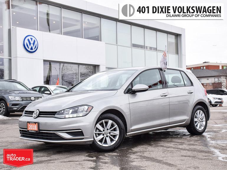 2018 Volkswagen Golf 5-Dr 1.8T Trendline 6sp at w/Tip Alloys/Back UP Ca