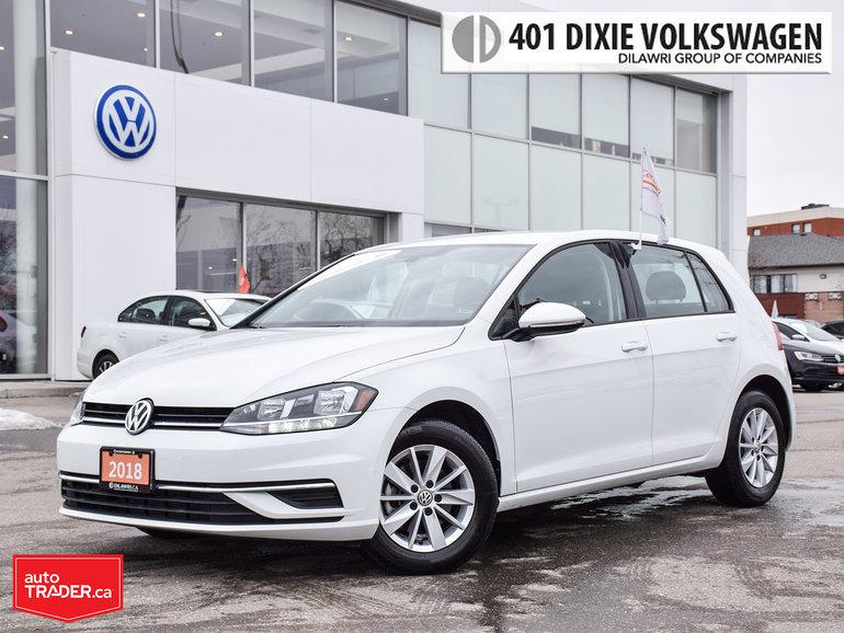 2018 Volkswagen Golf 5-Dr 1.8T Trendline 6sp at w/Tip Backup Camera/All