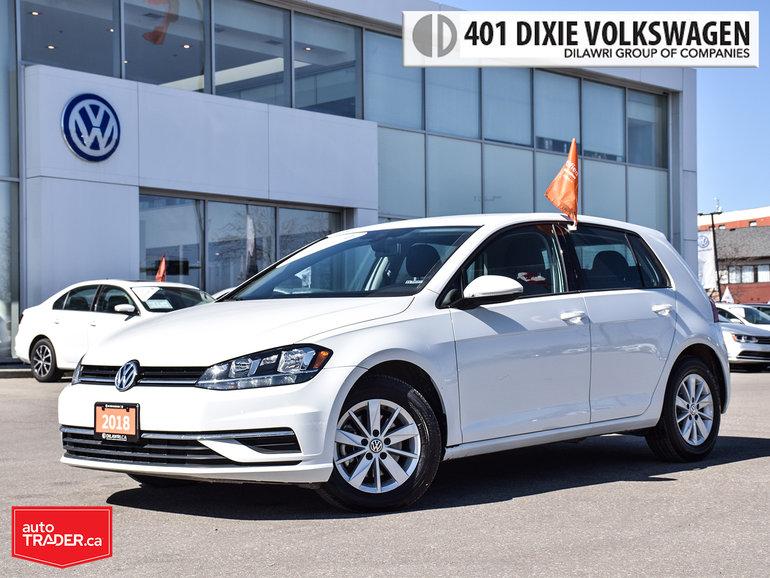 2018 Volkswagen Golf 5-Dr 1.8T Trendline 6sp at w/Tip Lowkm/Like NEW