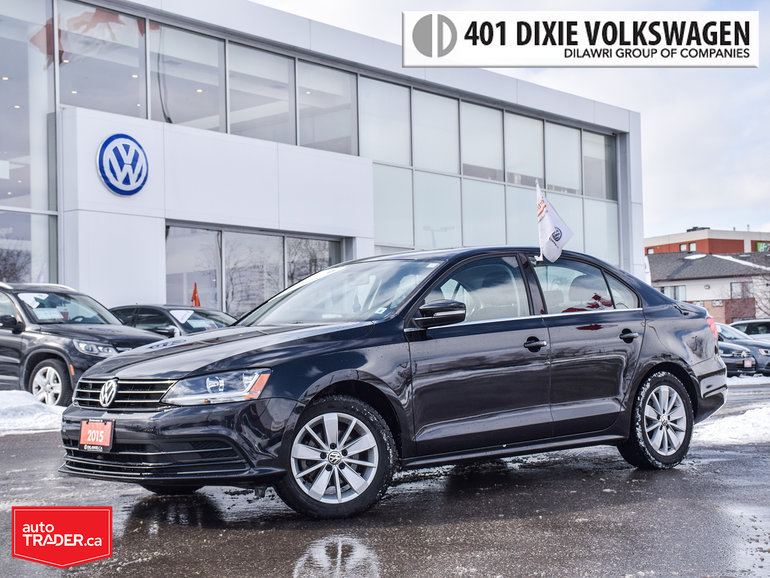 2015 Volkswagen Jetta Trendline Plus 2.0 6sp w/Tip Power Sunroof, LOW KM