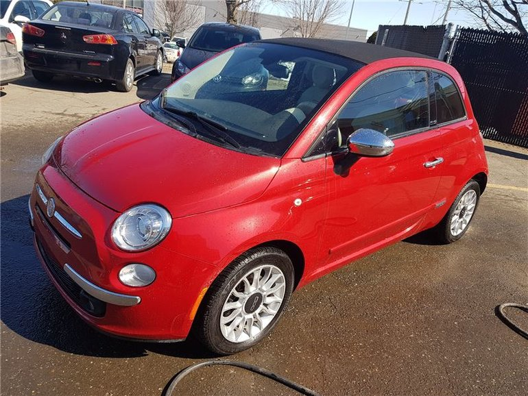 2012 Fiat 500C Lounge, BLUETOOTH, DECAPOTABLE!!