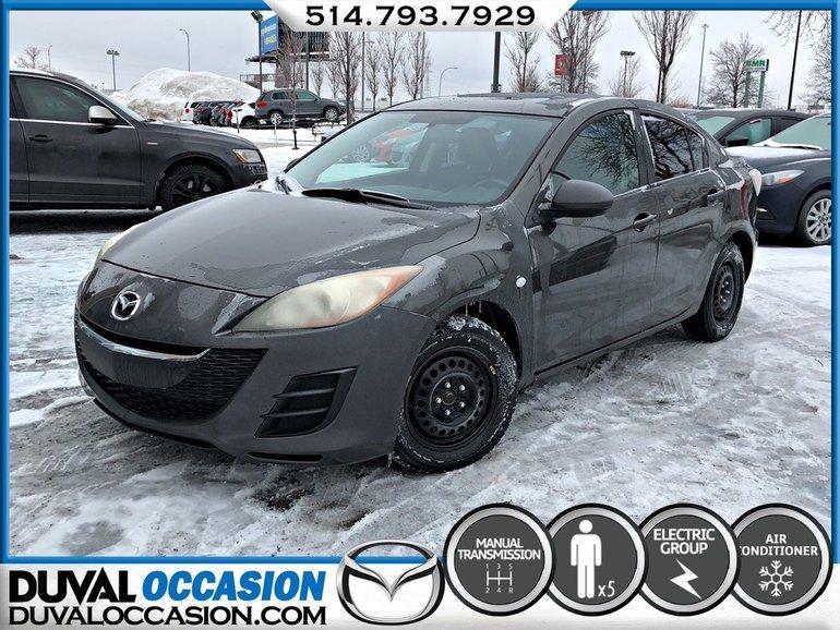 Mazda Mazda3 GX + **SEULEMENT 109000KM** + GROUPE ELECTRIQUE 2010