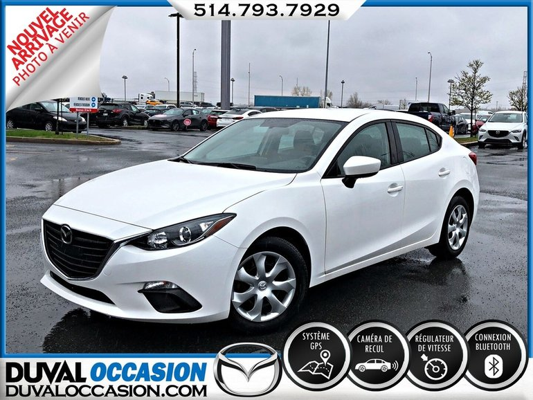 Mazda3 GX + NAVIGATION + CAMERA DE RECUL 2016