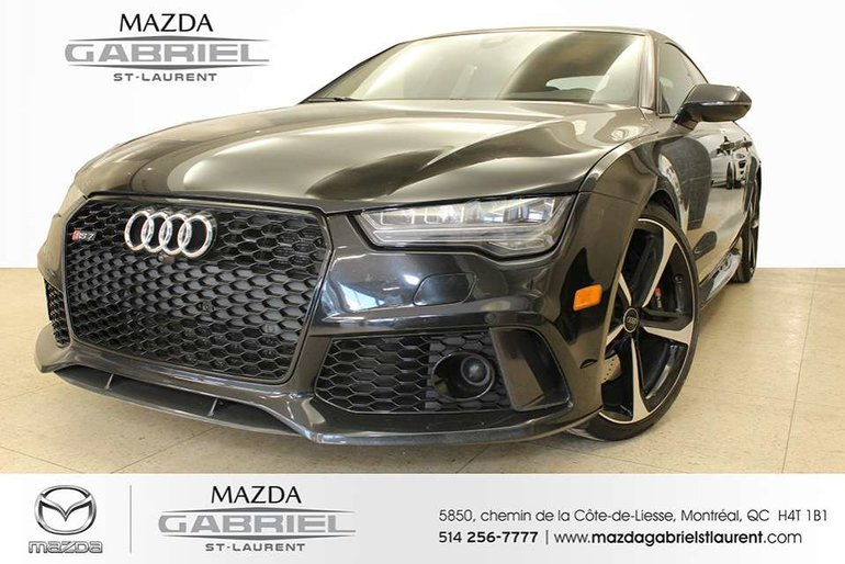 2016 Audi RS7 4.0T Quattro + jamais accidenté + 560 Horse Power