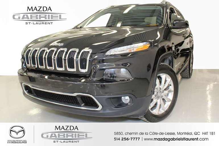 2015 Jeep Cherokee Limited 4WD+CUIR + JAMAIS ACCIDENTE + SEULEMENT 35 000KM