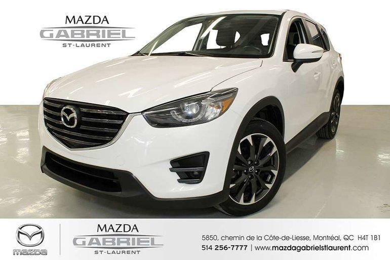 2016 Mazda CX-5 GT AWD + TOIT + CUIR + GPS + BLUETOOTH + CAMERA DE RECULE + DEMARREUR A DISTANCE +