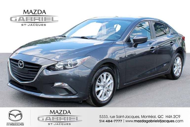 2015  Mazda3 GS  +BLUETOOTH+CRUISE+CAMERA DE RECUL