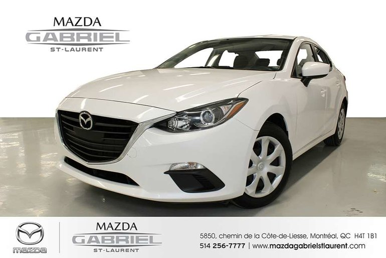 2016  Mazda3 GX + A/C + UN SEUL PROPRIO +  CAMERA DE RECUL