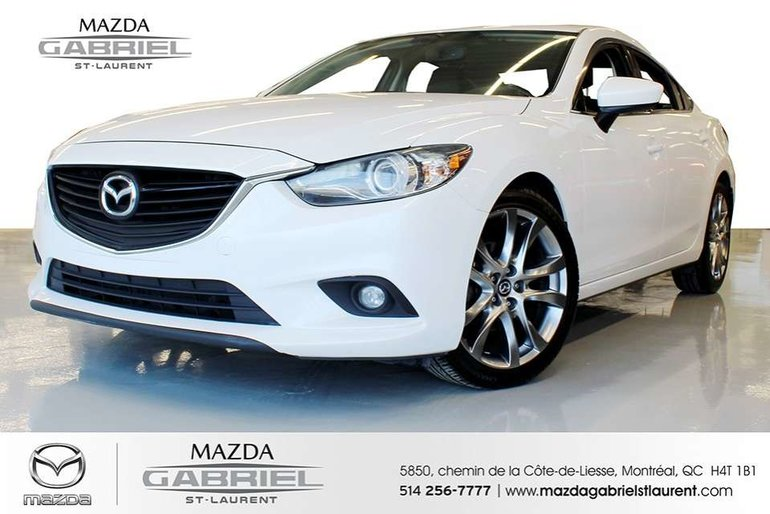 2014  Mazda6 GT + CUIR NO ACCIDENT- CAR FAX AVAILABLE