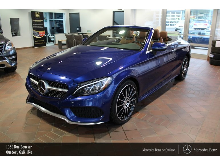 2017 Mercedes-Benz C-Class C300 4MATIC Cabriolet, navi, caméra360, Sirius