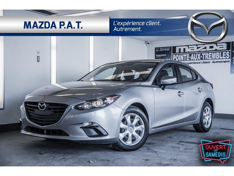 Mazda3 GX ** A/C CAMERA RECUL 38 695 KM ** 2016