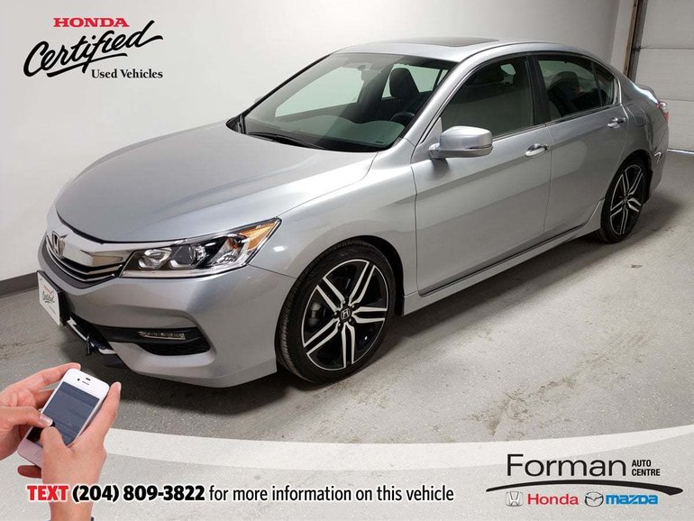 2017 Honda Accord Sport Low Kms Certified Htd Seats Camera Low Kms