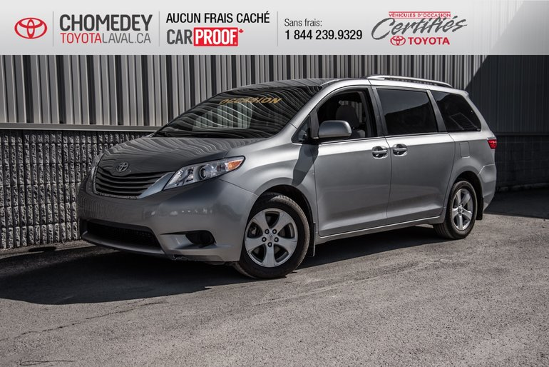 Toyota Sienna LE 8 PASSAGERS 2017