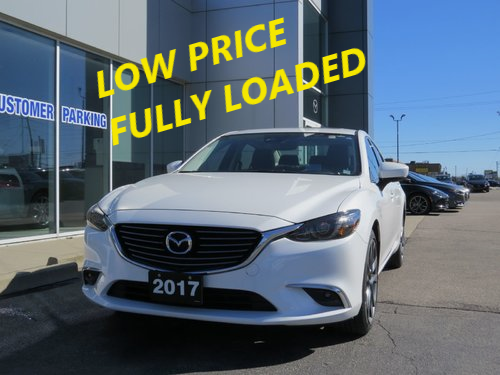 2017  Mazda6 GT|FULLY LOADED|LEATHER | REMOTE START|ONE OWNER