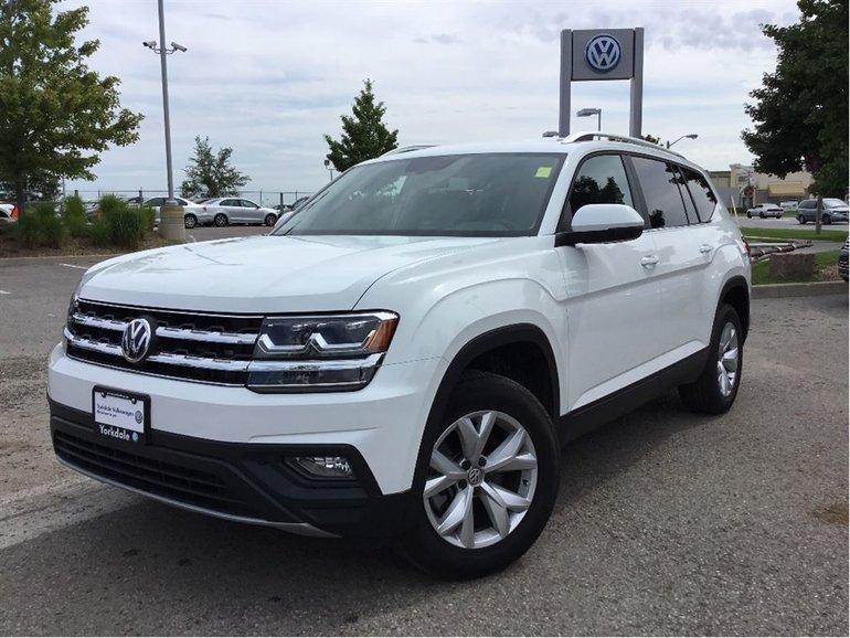 2018 Volkswagen Atlas Comfortline 2.0T 8sp at w/Tip