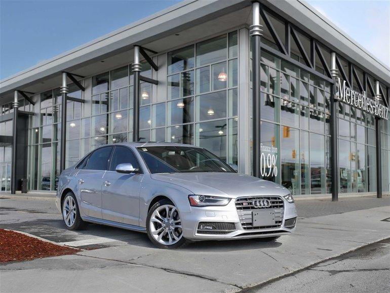 2015 Audi S4 Quattro  Winter Tire Pkg Included Heated seats Push Start