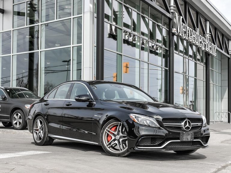 2018 Mercedes-Benz C63 S AMG AMG Carbon Fibre Trim, Head-up Display, Metallic Paint, Premium Package Yes !! This is a trade-in ! Race car level of performanc