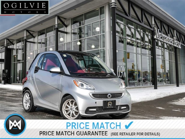 2015 smart Fortwo Panoroof, heated seats, power steering