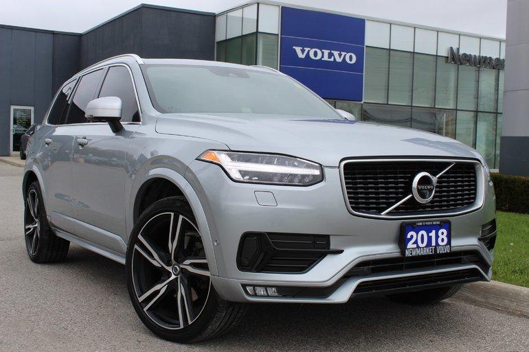 2018 Volvo XC90 T6 R-Design 160KM Warranty Vision Climate Conv.