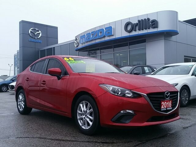 2016  Mazda3 GS SKYACTIV-2.0L-REAL NICE RED STITCHING ACCENTS