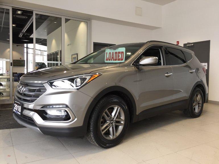 2018 Hyundai Santa Fe Sport 2.4L SE AWD - LOADED! HEATED LEATHER!