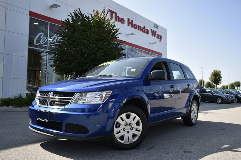 2015 Dodge Journey CANADA VALUE PKG - WINCH, CD PLAYER, KEYLESS ENTRY