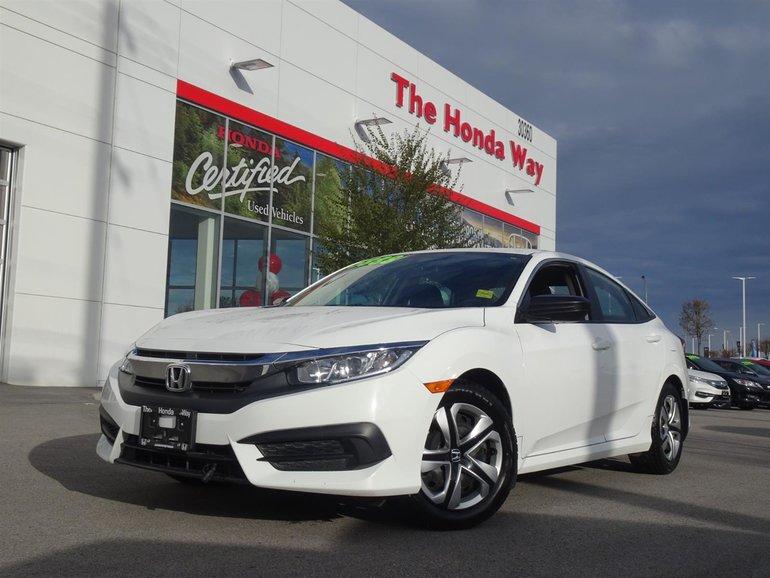 2016 Honda Civic DX - BLUETOOTH, B/U CAMERA
