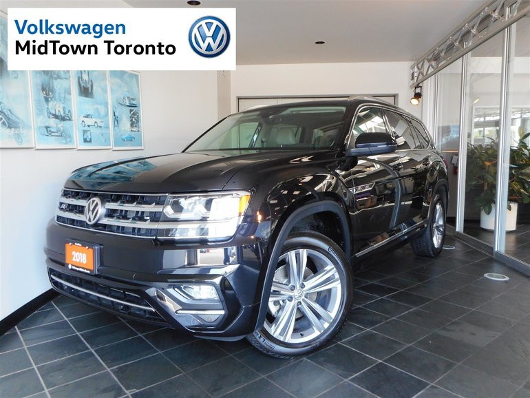 Volkswagen Certified Pre-Owned >> Used 2018 Volkswagen Atlas Execline R-LINE Black 3,350 KM ...