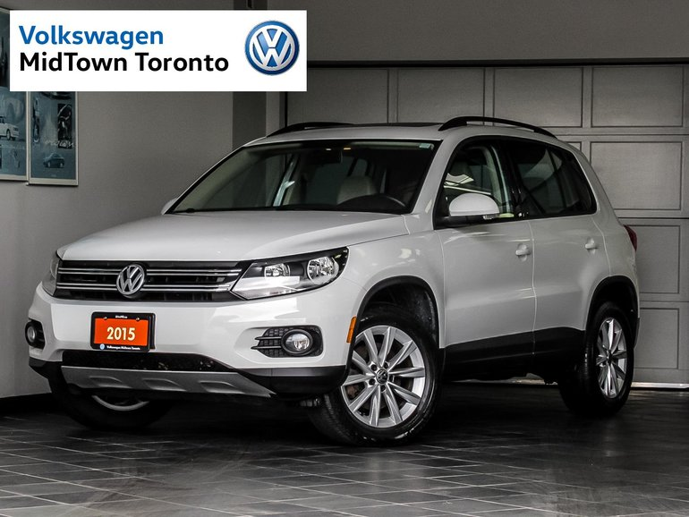 Used 2015 Volkswagen Tiguan Comfortline 4 Motion Pano Sunroof White 40,183 KM for Sale - $23350 ...