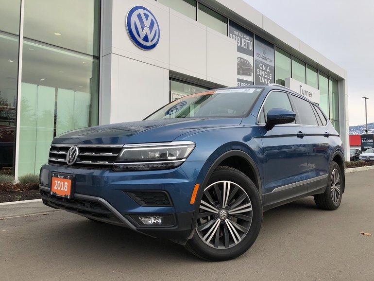 2018 Volkswagen Tiguan 4-Motion All Wheel Drive, Fully Loaded