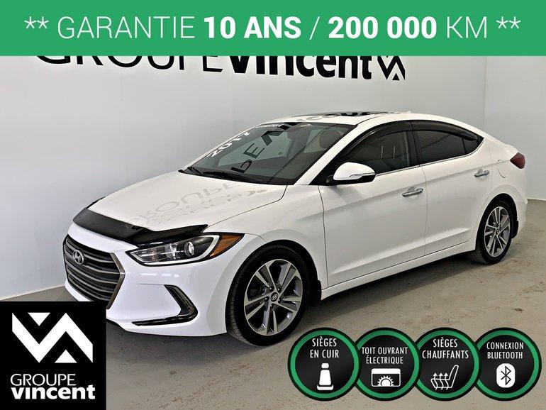Hyundai Elantra LIMITED GPS CUIR TOIT **GARANTIE 10 ANS** 2017