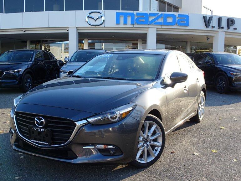 2017 Mazda Mazda3 GT, AUTO, A/C, CLOTH