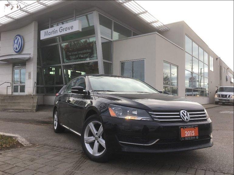 2015 Volkswagen Passat COMFORTLINE...LEATHERETTE SEATS..REAR VIEW CAMERA