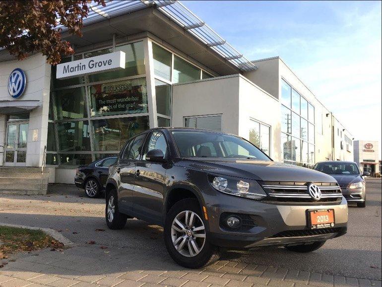 2013 Volkswagen Tiguan TRENDLINE..LOW KMS..HEATED SEATS..A MUST SEE