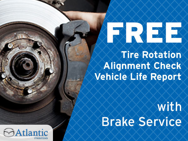 Free Tire Rotation, Alignment Check & Vehicle Life Report With Your Brake Service