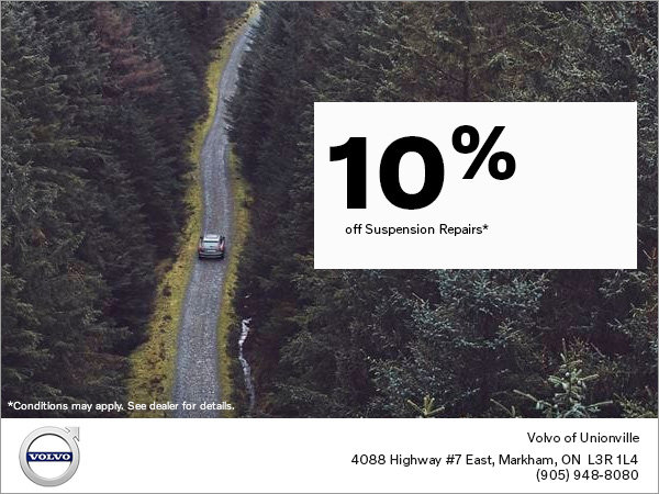Take 10% off Suspension Repairs