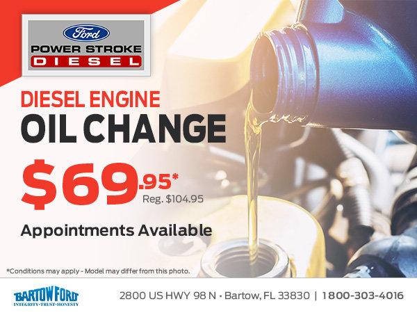 Diesel Oil Change