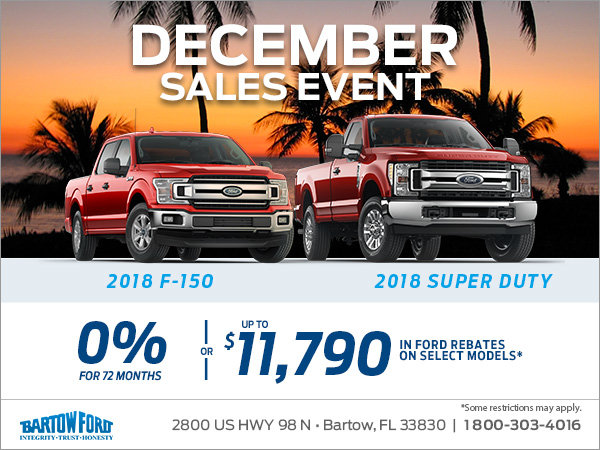 Get a brand new F-150 truck today!