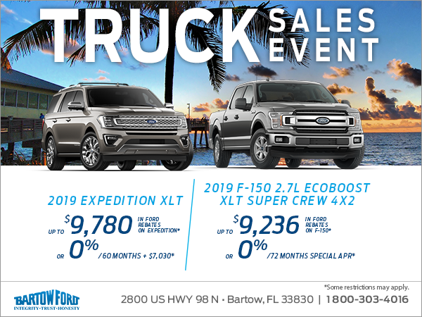 Get a brand new 2019 Ford truck today!