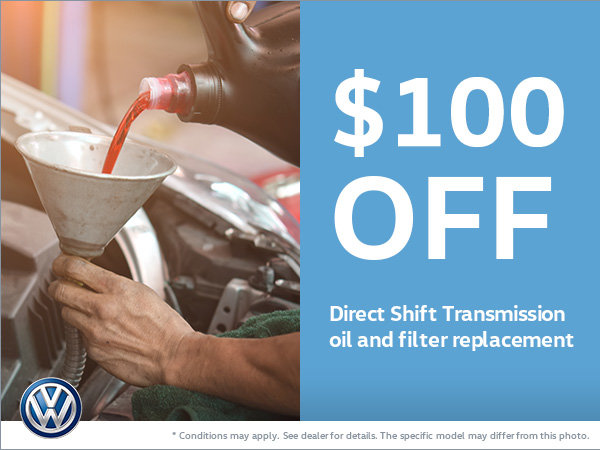 Get $100 Off Your Direct Shift Transmission Replacement!