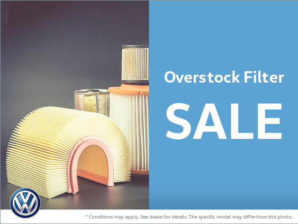 Overstock Filter Sale at Bill Matthews Volkswagen!