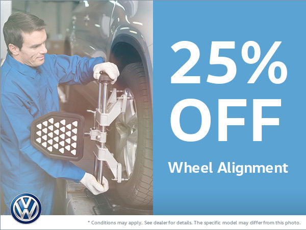 Get 25% Off Your Wheel Alignment!