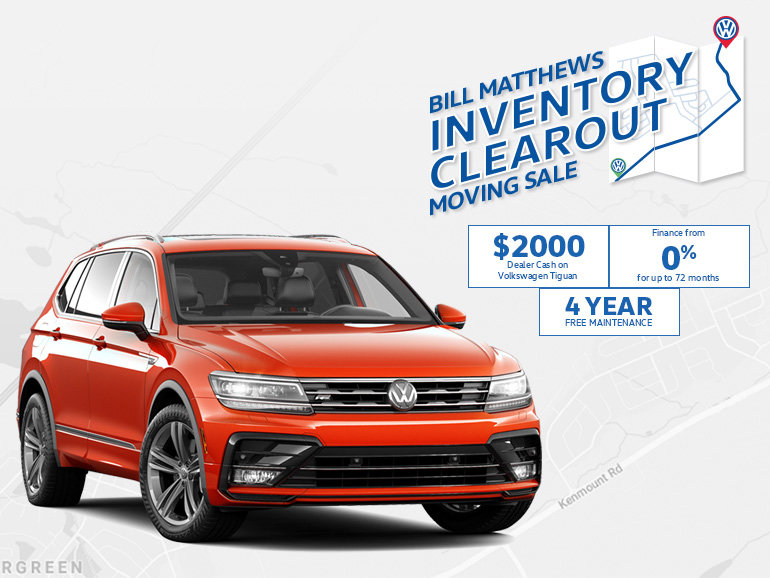 Tiguan - Inventory Clear Out Moving Sale
