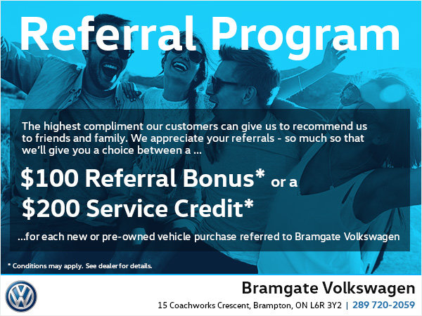 referral program bramgate volkswagen
