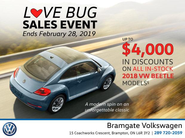 LOVE BUG Sales Event