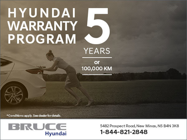 Take Advantage of the Hyundai Warranty at Bruce Hyundai