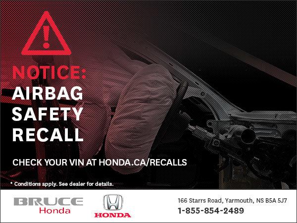 Air Bag Safety Recall