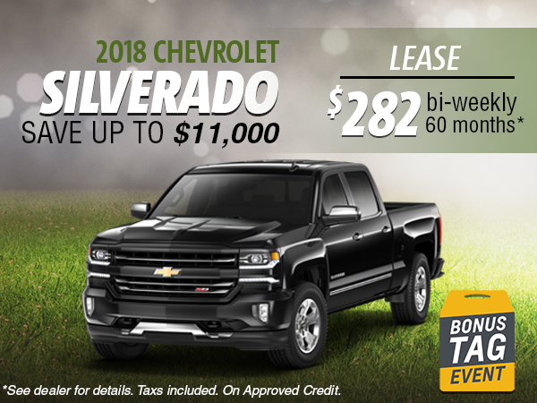 Lease the 2018 Chevrolet Silverado