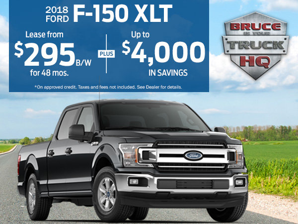 Lease and Save up to $4,000 on 2018 F-150 XLT